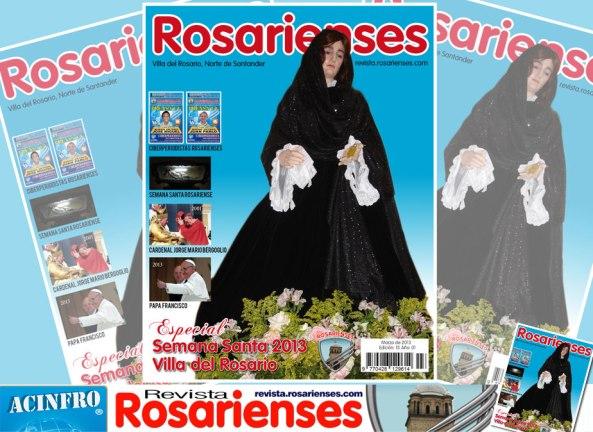 Revista Rosarienses No. 13 con los preparativos de la Semana Santa 2013 en Villa del Rosario
