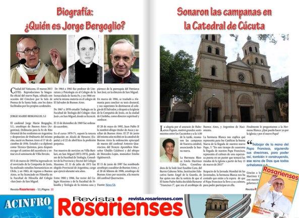 Sonaron las campana en Cúcuta por la buena nueva del Habemus Papam